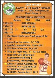 basketball card back